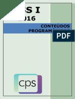 2016 Pss i Conteúdos Programáticos
