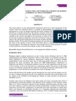 Organizational Satisfaction and Work Engagement of Filipino Teachers in an Asian University