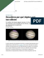 Descubren por qué Júpiter está tan caliente | Ciencia | EL PAÍS