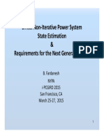 Fardanesh I-PCGRID 2015 Non-Iterative Nonlinear State Estimationr and Requirements for the Next Generation EMS