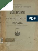 Avance Estadístico Cultivo y Producción de Vid 1899