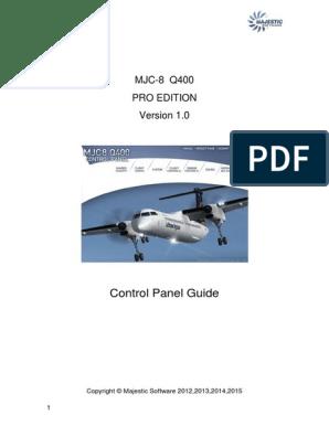 Dash q8 400 - Control Panel Guide | Flight Control Surfaces