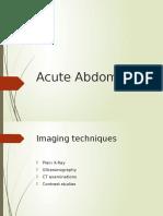 Acute Abdomen Radioimaging