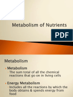 Pert 8. Metabolism of Nutrients