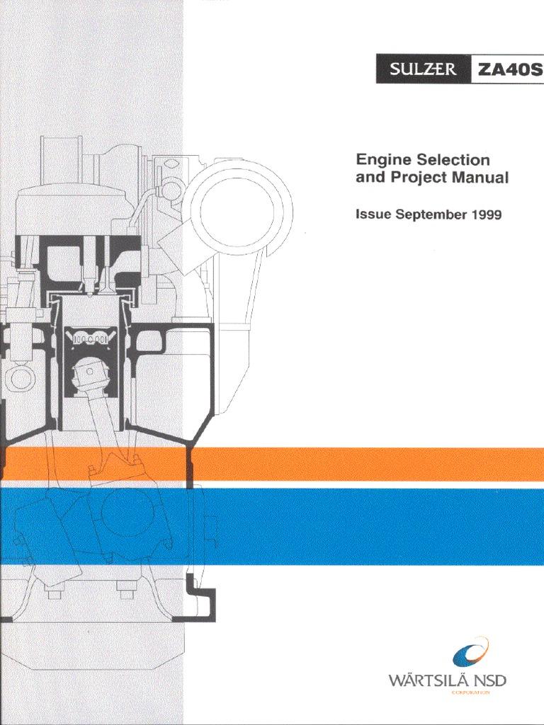 sulzer za40s oil engines