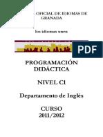 Programacion Ingles C1 2011 2012
