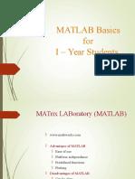 Matlab Basics SENSE