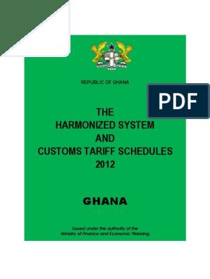 Ghana Customs Hs Code Textiles Customs