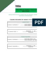 14. Cuadro de Resumen de Estado Fisico - Economico Ejecutado..