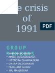 The crisis of 1991