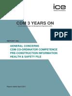 Cdm 3 Years on Report
