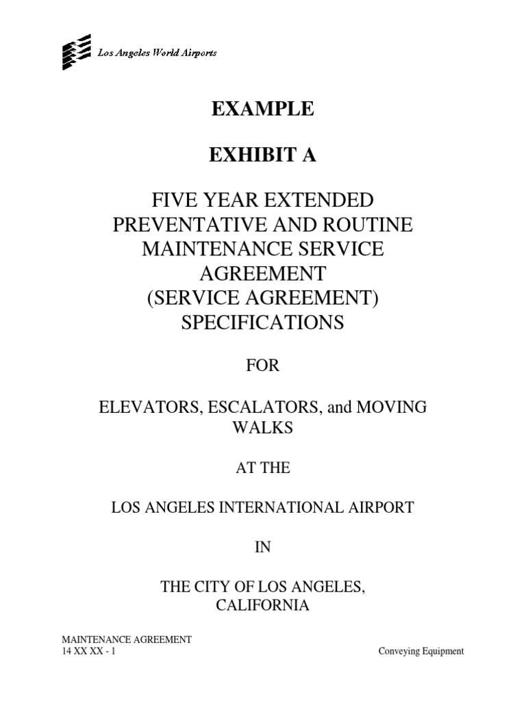 14_XX_XX_Elevator Escalator Walkway Maintenance Agreement | Indemnity |  Liability Insurance