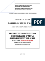 DAO Ouvrages d'Art Bozene-Mogalo (Axes Prioritaires)