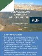 Experiencias Sobre Uso y Manejo Del Agua de Riego en La Cue
