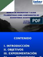 Manejo de Macrofitas y Algas Filamentosas Como Componentes d