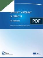 University Autonomy in Europe II