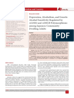 Depression, Alcoholism, and Genetic Alcohol Sensitivity Regulated by ALDH2 and ADH1B Polymorphisms among Japanese Community-Dwelling Adults