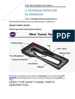 Wind Tunnel Technique Notes for Aeronautical Engineers Tp 2