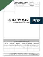Escl Iso Quality Manual Rev. 01