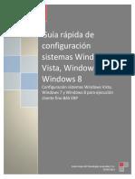 Guía Rápida de Configuración de BAS Núcleo en Sistemas Windows Vista, Windows 7 y Windows 8
