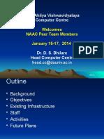 Computer Centre Naac Presentation 2013