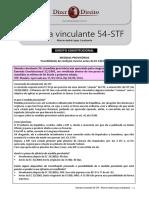 STF - Súmula Vinculante 54 (M.P)