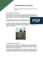 Leyes de La Termodinamica en Los Ecosistemas