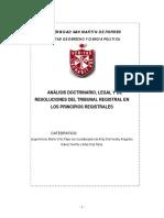 Analisis Doctrinario Derecho Registral