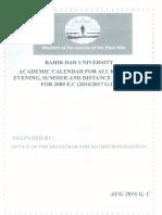 Academic Calender 2009