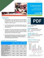 Unicef Cameroon Humanitarian Sitrep Report_May 2016