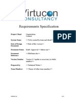 Requirements Specification Template