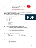 Compound and Mixture Worksheet 1