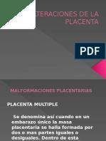 Alteraciones de La Placenta