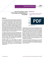 Medical Nanotechnology -Small Technology and Big Impact on Oncology