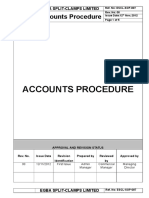 ESCL SOP 007, Accounts Procedure