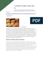 Los Frutos Secos Más Ricos en Minerales