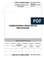 ESCL SOP 008, Admin Human Resources Procedure
