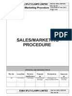 ESCL SOP 010, Sales Marketing Procedue