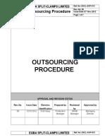 ESCL SOP 013, Outsourcing Procedure