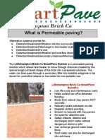 SMARTPAVE Permeable Paving System by Littlehampton Brick