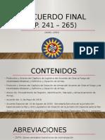 Acuerdo Final Gobierno y FARC pp. 241 - 265
