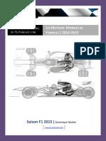 Les Moteurs de F1 Hybrides 2014-2015