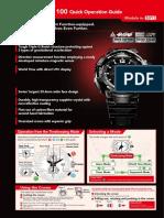 Casio GW-A1100 Quick Operation Guide (Module No. 5311)