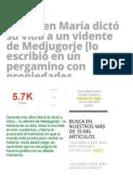 La Virgen María dictó su vida a un vidente de Medjugorje [lo escribió en un pergamino con propiedades sobrenaturales] » Foros de la Virgen María.pdf