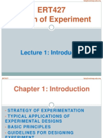 Lecture 1 Introduction DOE