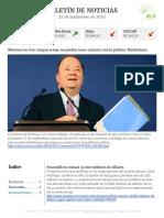 Boletín de noticias KLR 22SEP2016