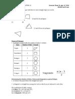 F1 Maths C10 Notes