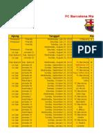 Hasil Jadwal Laga Barca 2013-14