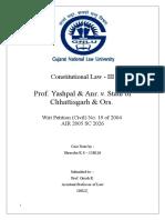 Prof Yashpal v. State of Chhattisgarh.docx