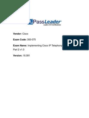300-075 Kerca Unlocked | Session Initiation Protocol